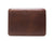 photo of leather macbook sleeve with lining - bchestnut