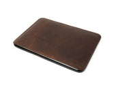 Leather Macbook Sleeve With Wool Lining - Chestnut - olpr.