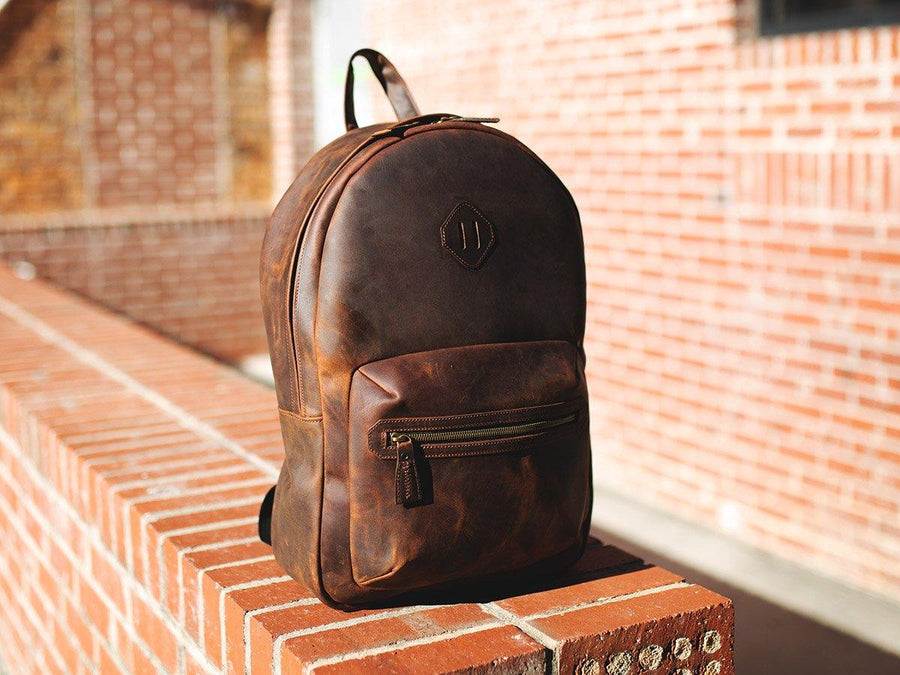 Milwaukee Leather Backpack City - Dark Chocolate - olpr.