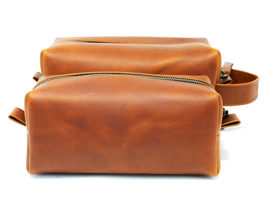 Milwaukee Leather Dopp Kit - Tan - olpr.