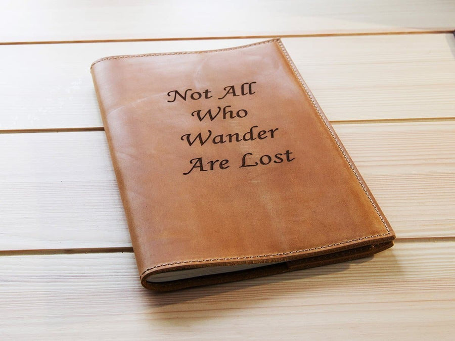 image Best engraved leather journal Natural