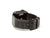 image of black caiman leather apple watch strap