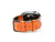 photo of caiman leather apple watch band - orange