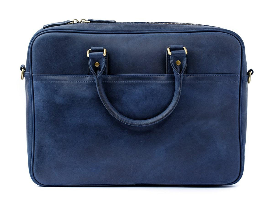 navy leather laptop bag weekday