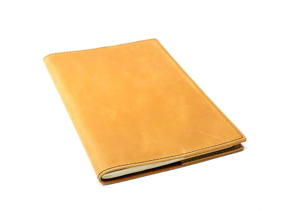 photo of crazy horse large leather journal - wheat