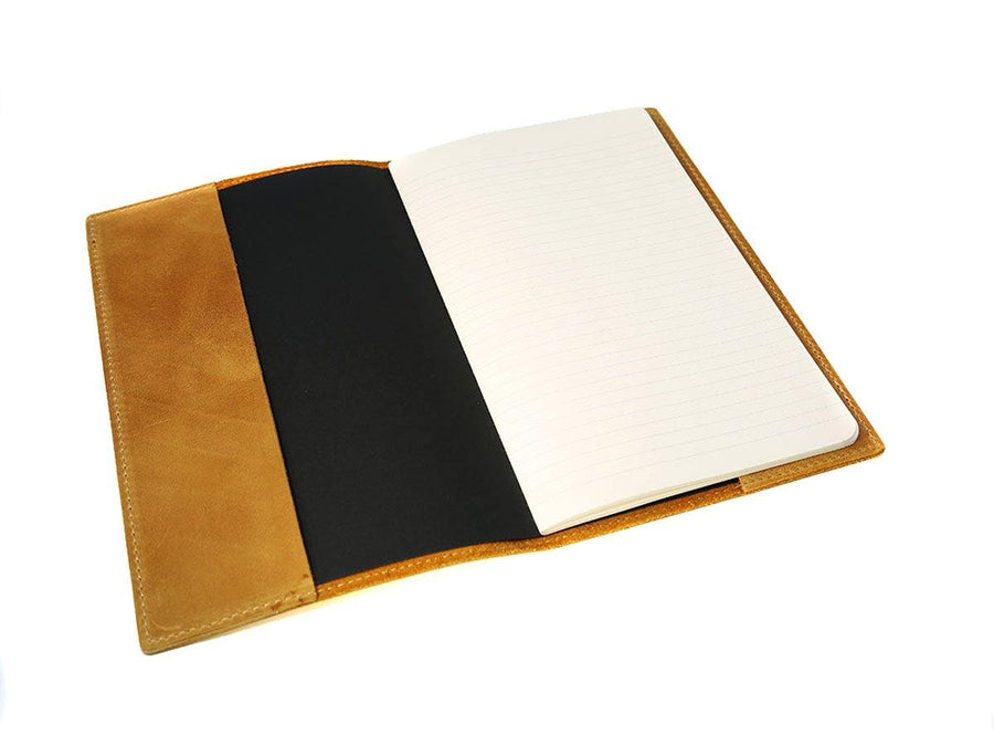 photo of large crazy horse leather journal wheat