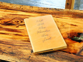 image of engraved wheat leather journal
