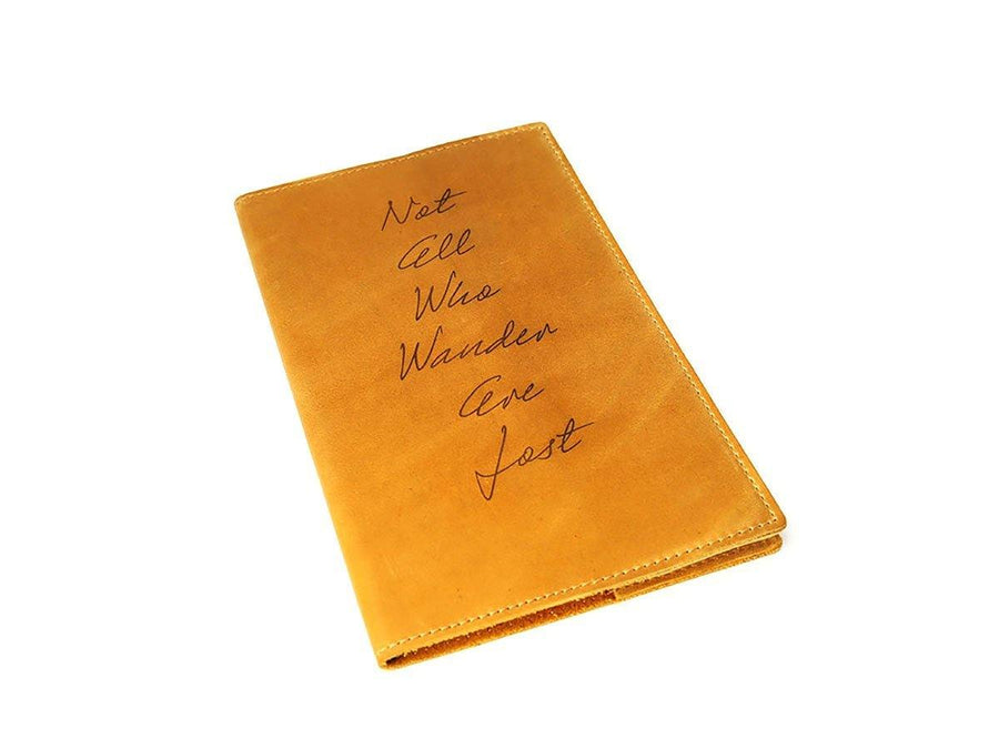 image of wheat crazy horse leather large journal