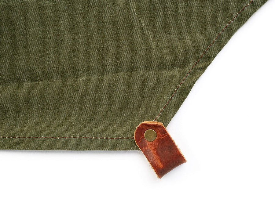 waxed canvas working apron green