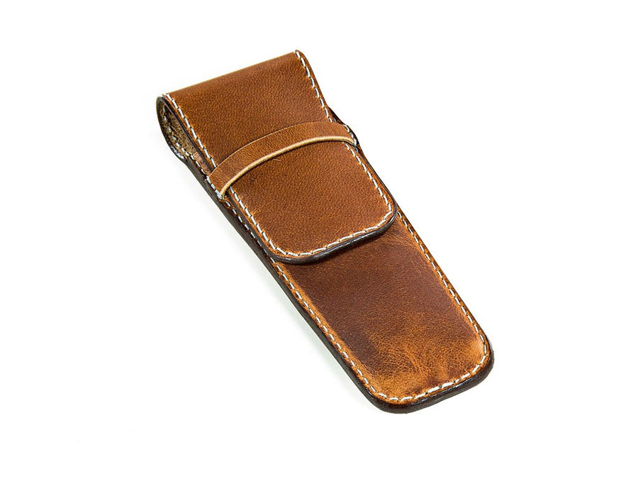 photo of horween leather 2pen holder - natural