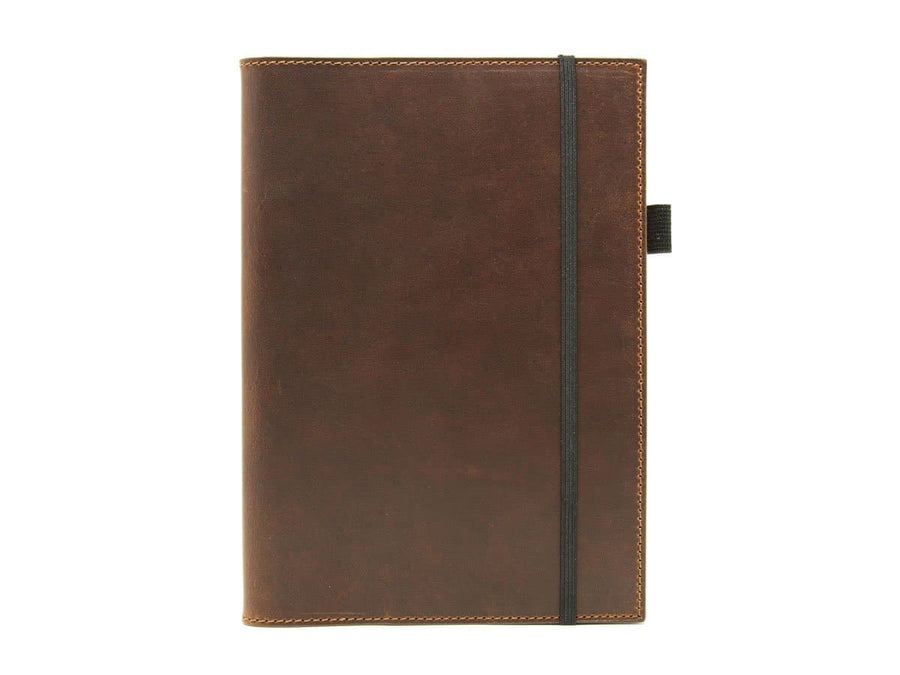 Horween A5 Leather Journal Case - Chestnut - olpr.