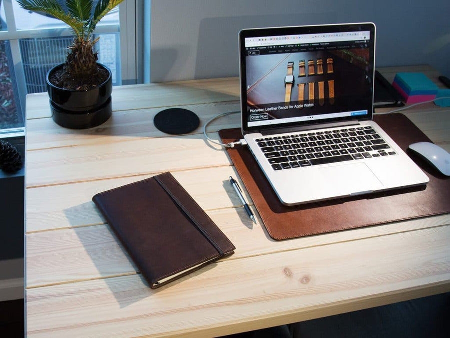 image of journal case a5 size in chestnut leather