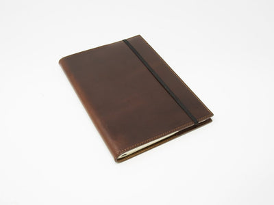 photo of horween a5 leather journal - chestnut