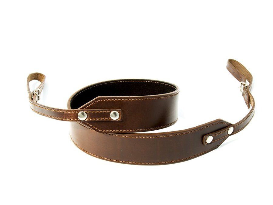 photo of horween leather camera strap premium - brown