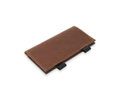 photo of horween leather checkbook cover - chestnut