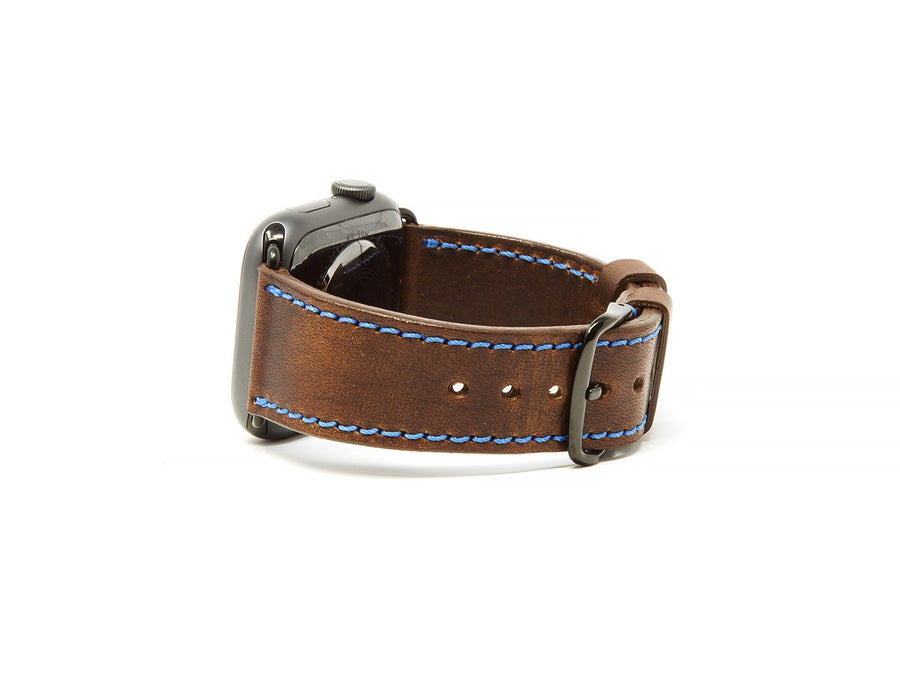 Horween Leather Apple Watch Band - Chestnut - olpr.