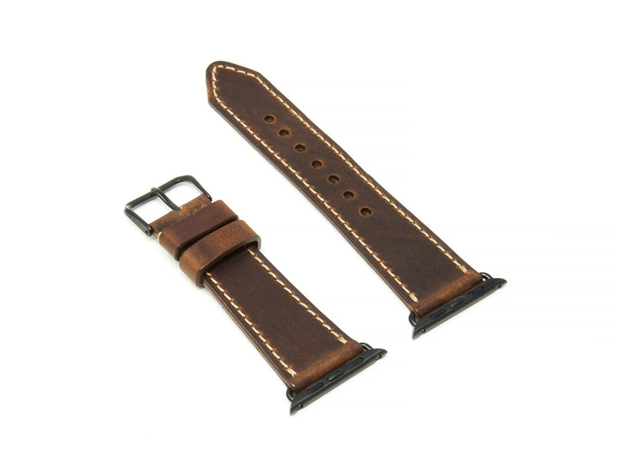 photo of chestnut dublin leather iwatch strap