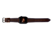 image of chestnut horween leather apple watch strap