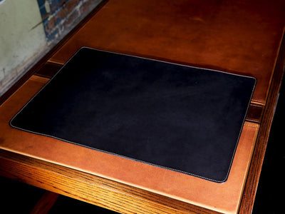 photo of horween leather desk pad - black