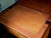photo of horween leather desk pad - natural