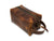 photo of horween leather dopp kit with handle - chestnut