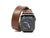 photo of chestnut horween leather double tour iwatch band