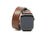 photo of horween leather double wrap apple watch band - chestnut
