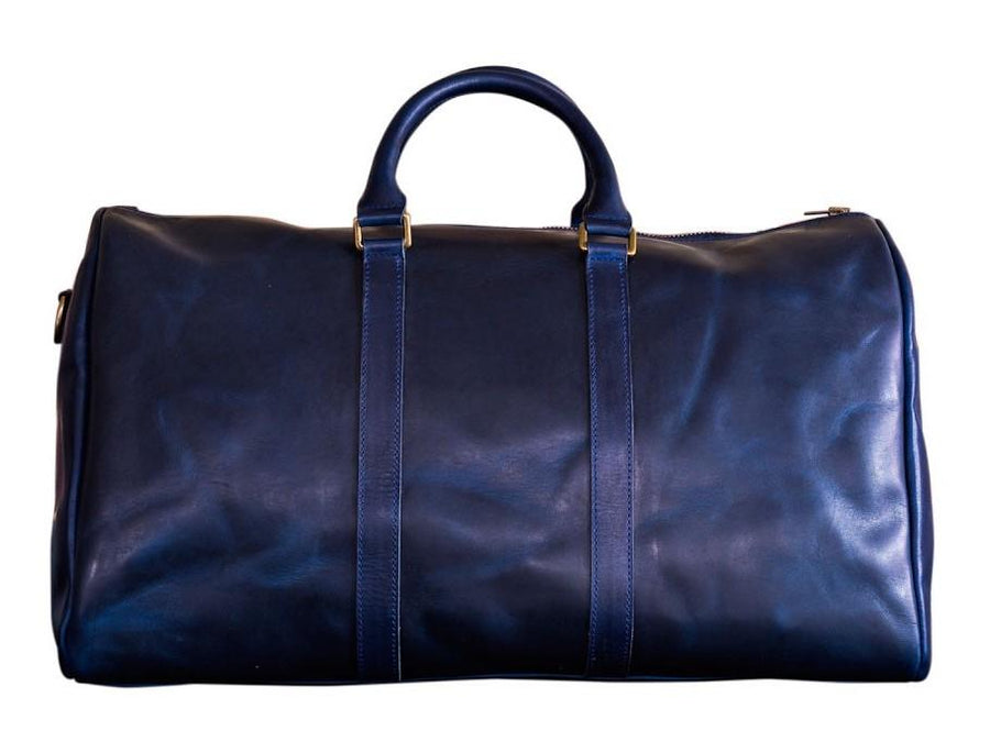 Horween Leather Duffle Bag - Blue - olpr.