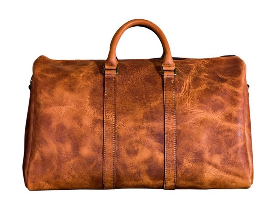 photo of horween leather duffle bag - natural