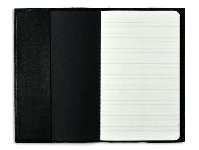 photo of black horween leather pocket journal