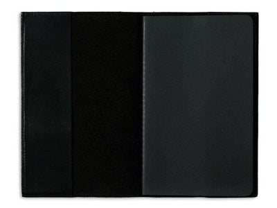 picture of black pocket journal in horween leather