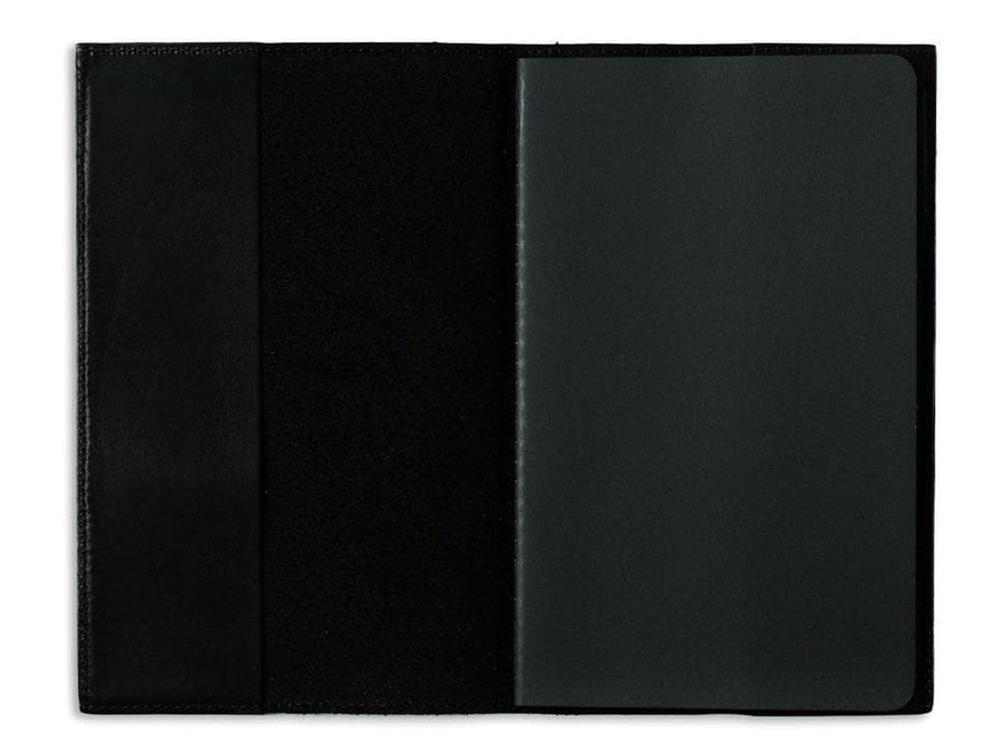image of black horween leather extra large journal