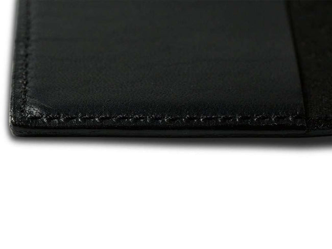 picture of pocket journal in black horween leather