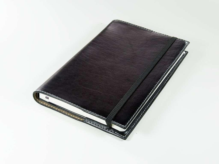 Horween Pocket Leather Journal - Black - olpr.