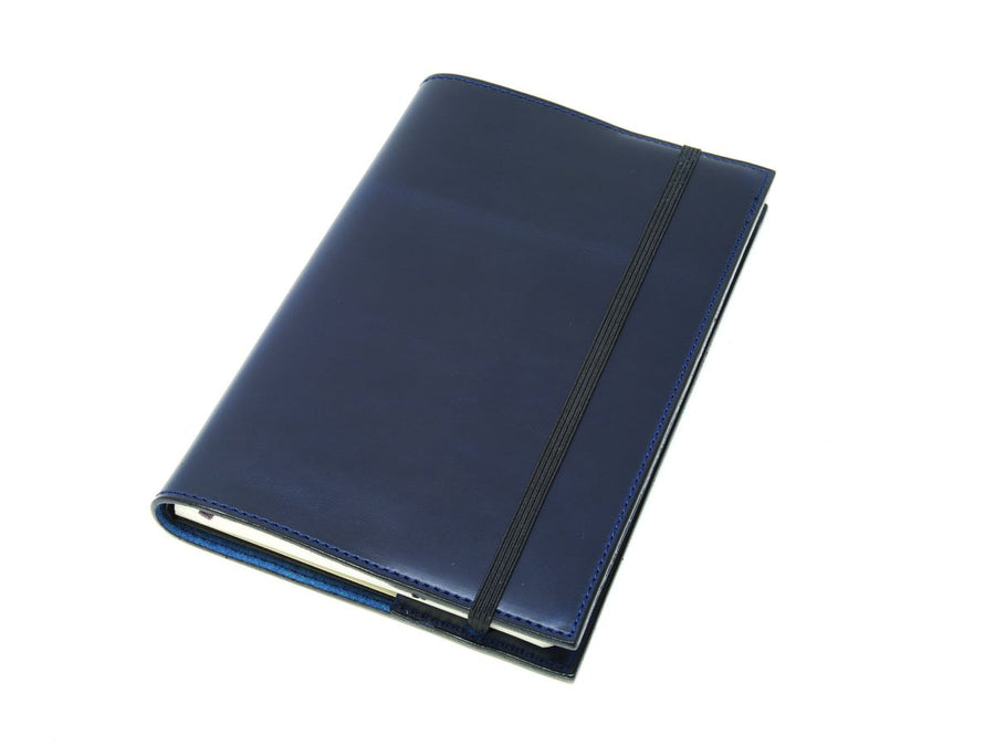 image of horween blue leather journal large