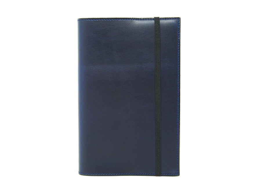 photo of blue large leather journal