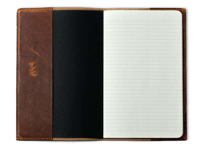photo of chestnut horween leather pocket journal