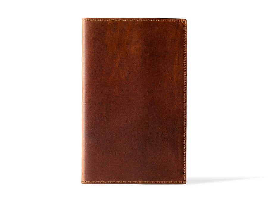 photo of horween pocket leather journal - chestnut