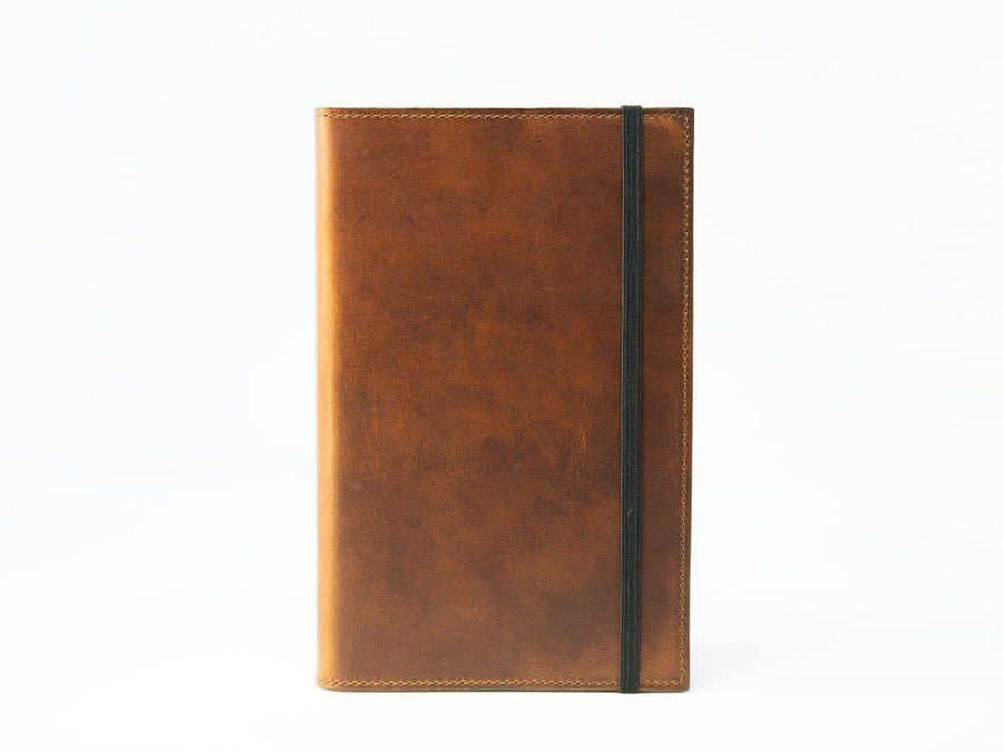 image of large horween leather journal chestnut