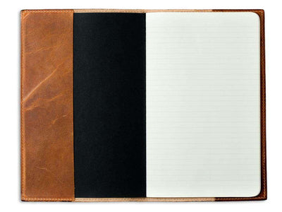 photo of natural horween leather pocket journal