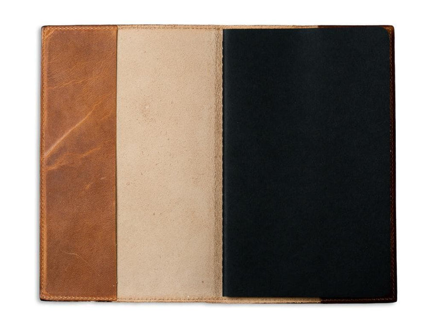 image of natural horween leather large journal
