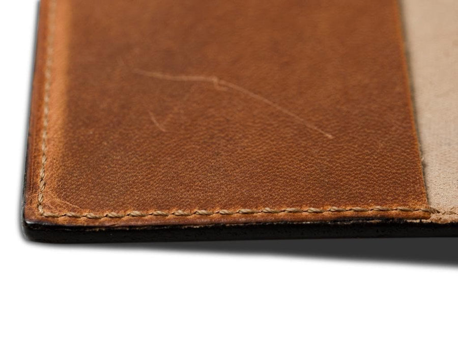 photo of natural horween leather journal large