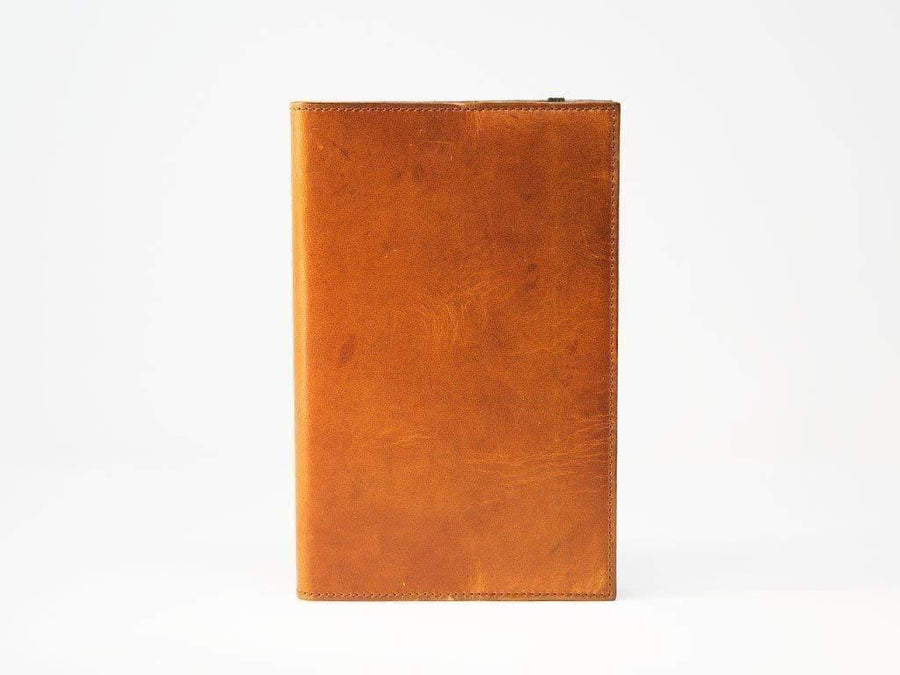 photo of pocket notebook in horween natural leather