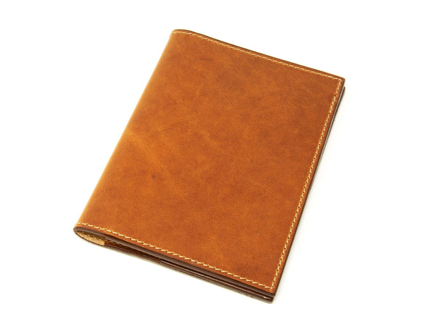 photo of horween leather travel wallet natural