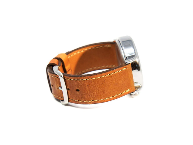 image of watch strap handmade of horween leather