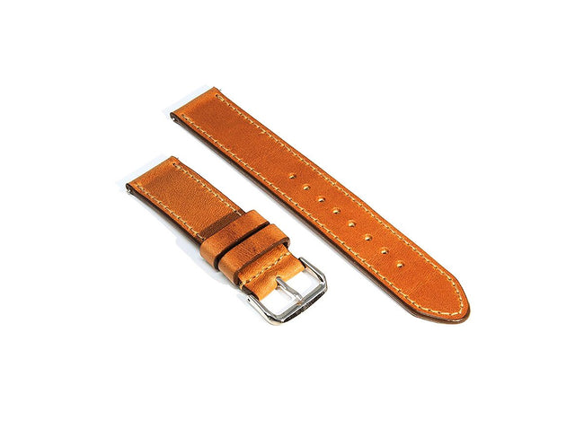 photo of natural horween leather watch strap