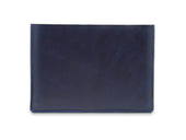 photo of horween leather macbook sleeve - blue