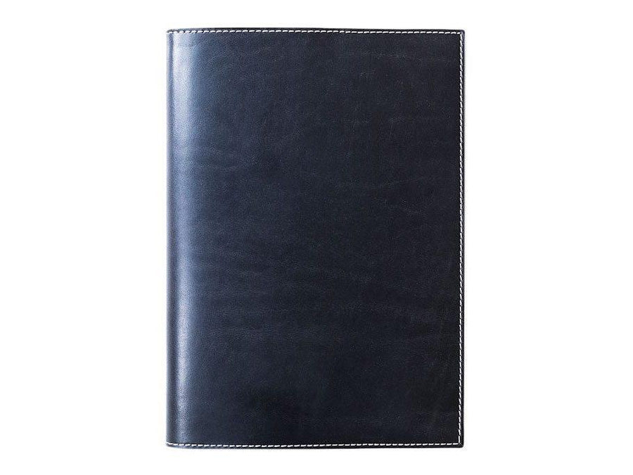 photo of horween leather midori notebook cover - black