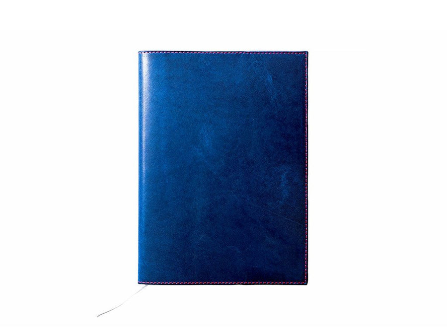 photo of horween leather midori notebook cover - blue