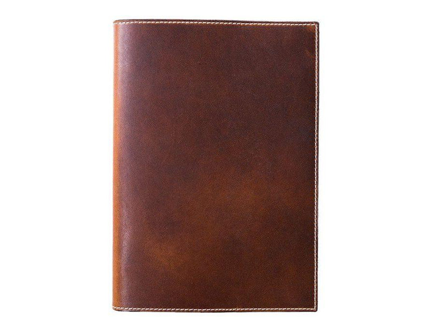 photo of horween leather midori notebook cover - chestnut